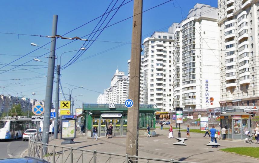 "Станция метро ""Комендантский проспект"". Фото Скриншот Яндекс.Карты"