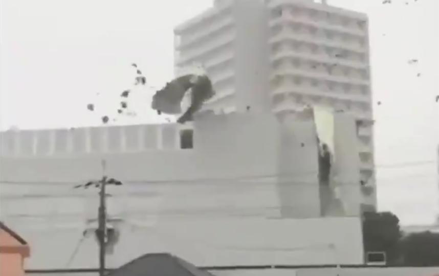 """Тайфун """"Джеби"""": максимальная скорость порывов ветра достигает 180 км/ч."""