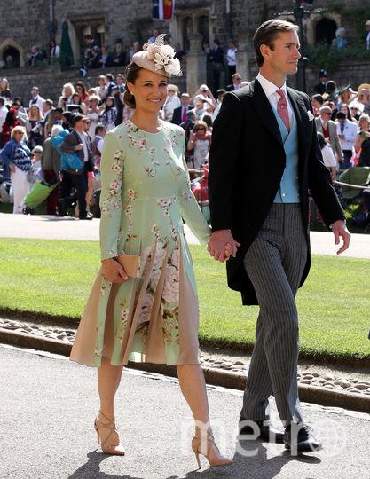 На свадьбе принца Гарри и Меган Маркл в 2018-м году с Джеймсом Мэттьюзом. Фото Getty