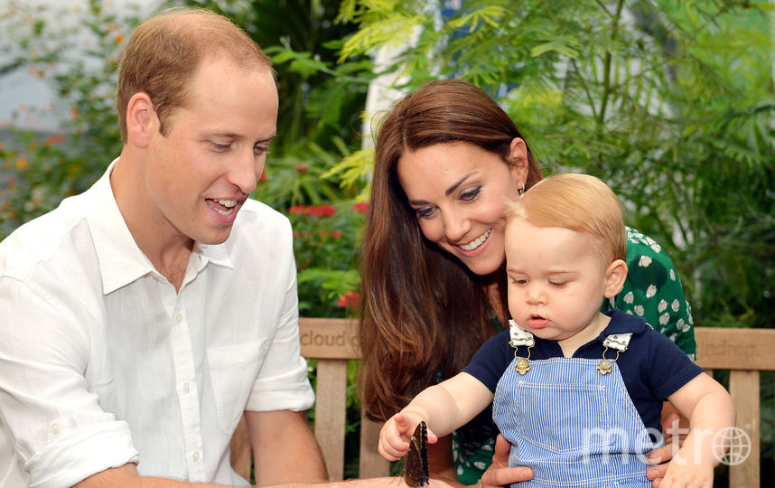 Принц Уильям, Кейт Миддлтон и принц Джордж. Фото Getty
