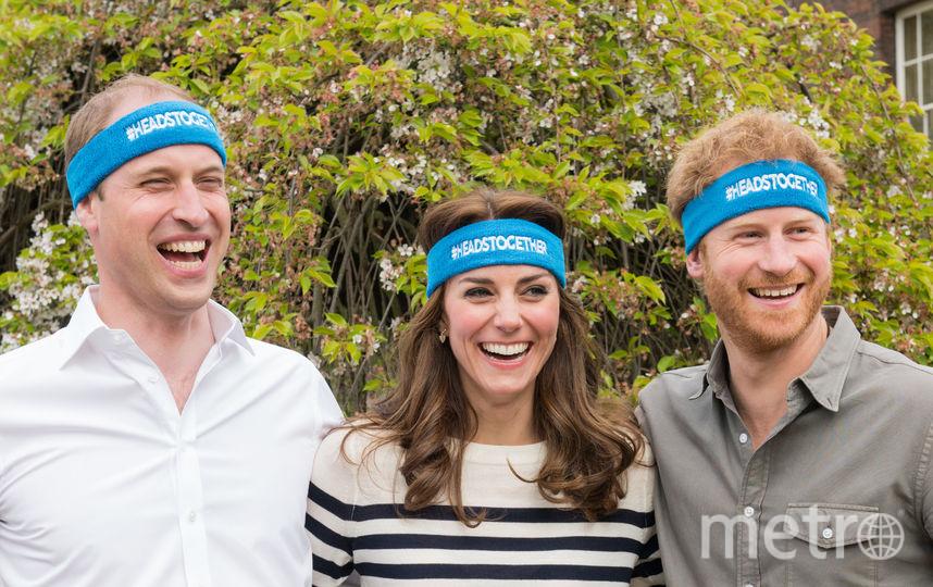 Принц Уильям, Кейт Миддлтон и принц Гарри. Фото Getty