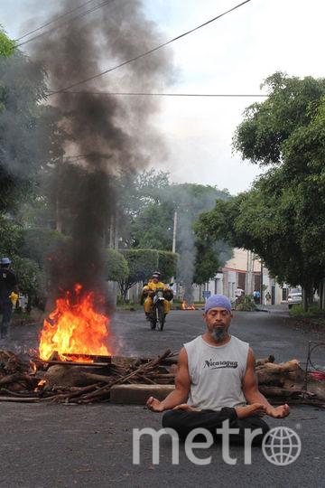 Перес проводит сеансы как в обычных парках, так и в местах скопления протестующих. Фото предоставлено героем материала