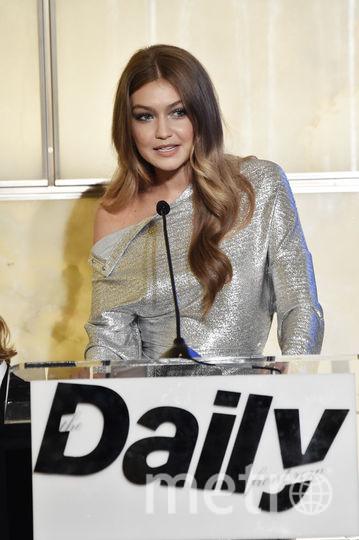 Модная премия в Нью-Йорке в день старта Недели моды. Джиджи Хадид. Фото Getty