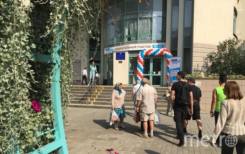 Москвичи идут на избирательные участки активно. Фото Дарья Буянова.