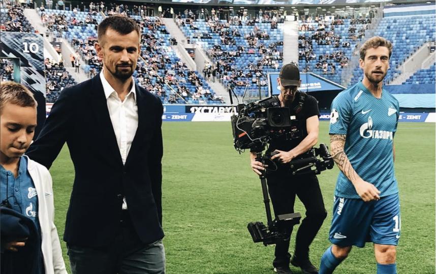 """Маркизио (слева) представлен в качестве игрока """"Зенита"""". Фото Instagram @zenitspb"""