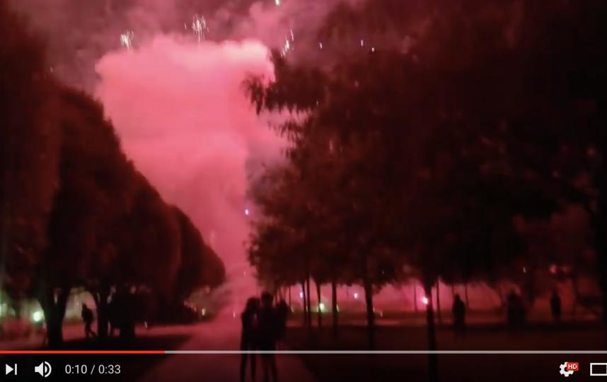 Салют в Южном Бутово на День города: люди бежали в панике. Фото скриншот https://youtu.be/OyG26ACteS8