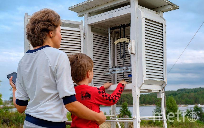 """Психрометрическая будка, в которой измеряется температура воздуха. Фото Алена Бобрович, """"Metro"""""""