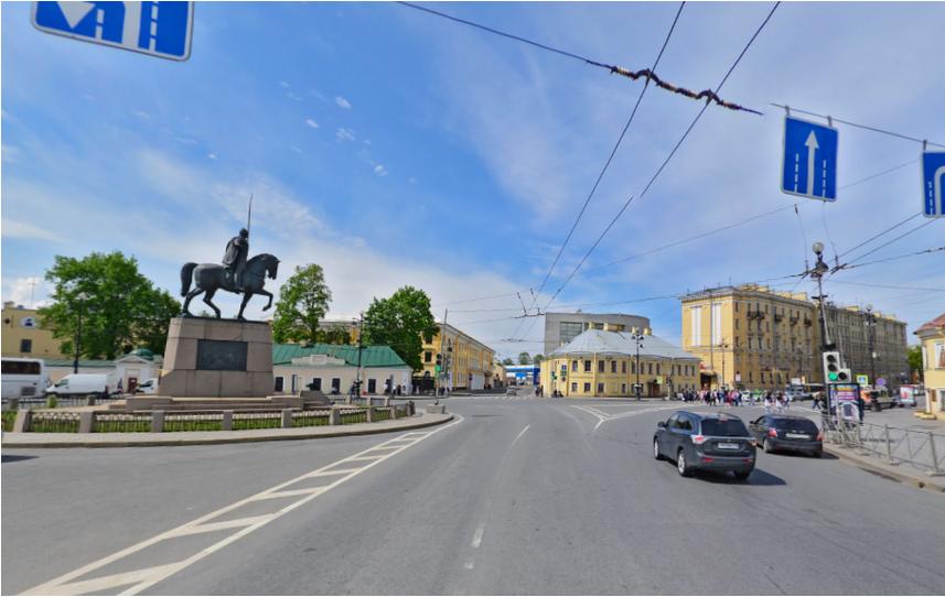 Площадь Александра Невского. Фото скриншот Яндекс.Панорамы.