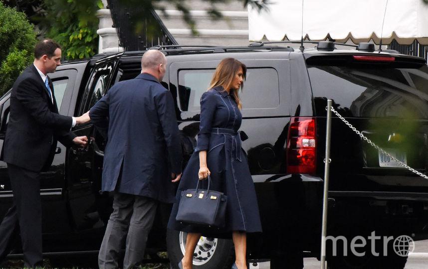 Дональд и Мелания Трамп отправляются к мемориалу. Фото Getty