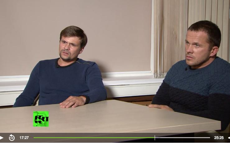 Первое интервью с Петровым и Бошировым. Фото скриншот https://russian.rt.com/world/video/554018-intervyu-podozrevaemye-skripal