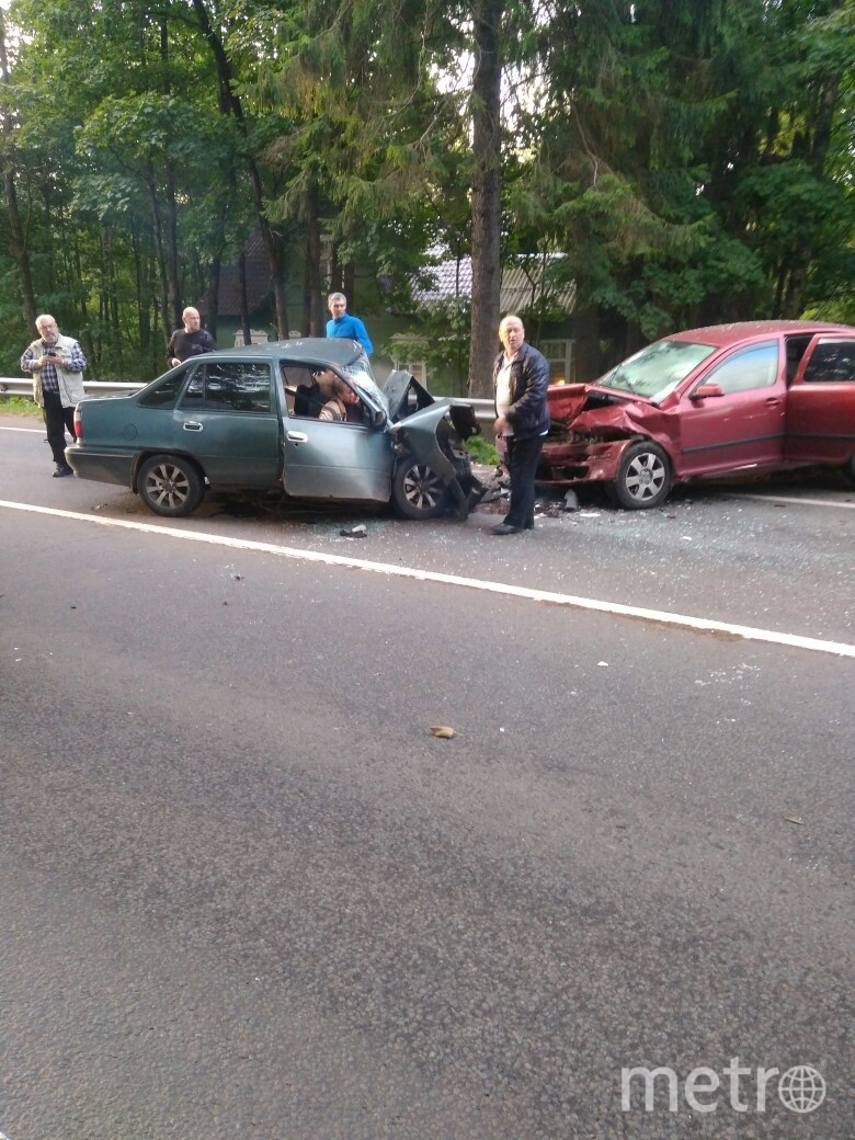 Фото с места смертельного ДТП на Приморском шоссе. Фото vk.com