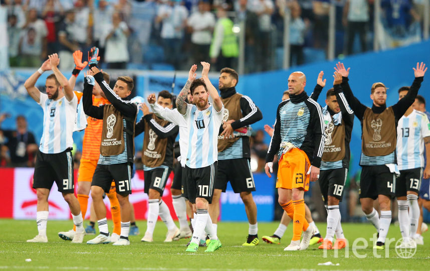 Сборная Аргентины по футболу на чемпионате мира в России. Фото Getty