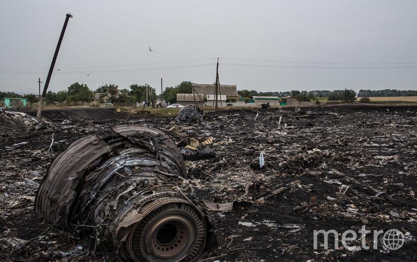 Обломки малайзийского боинга в Украине. Фото Getty