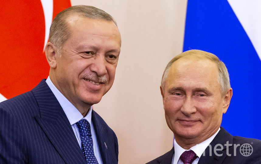 Переговоры Путина и Эрдогана шли более четырёх часов. Фото AFP