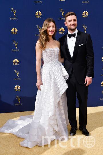 Джессика Бил с мужем Джастином Тимберлейком. Фото AFP