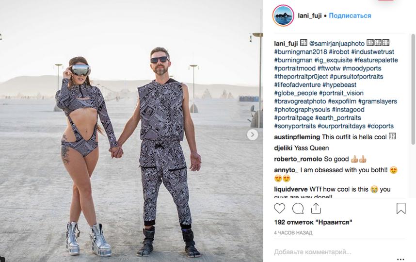 Burning Man-2018: Самые горячие красотки пустыни. Фото Скриншот Instagram: @lani_fuji