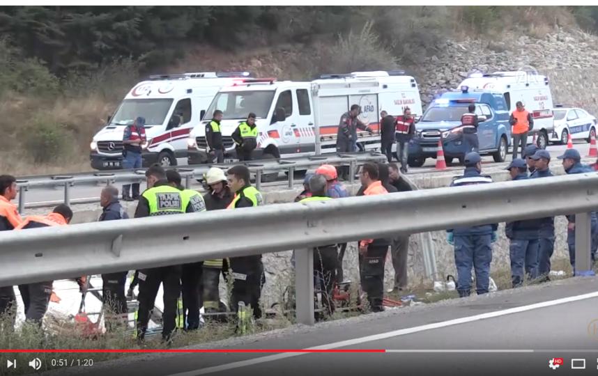 Скриншот видео с места ДТП. Фото Haber Lutfen/ YouTube, Скриншот Youtube