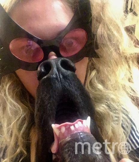 Хозяйка Полина, пёс Стефан. Фото Полина