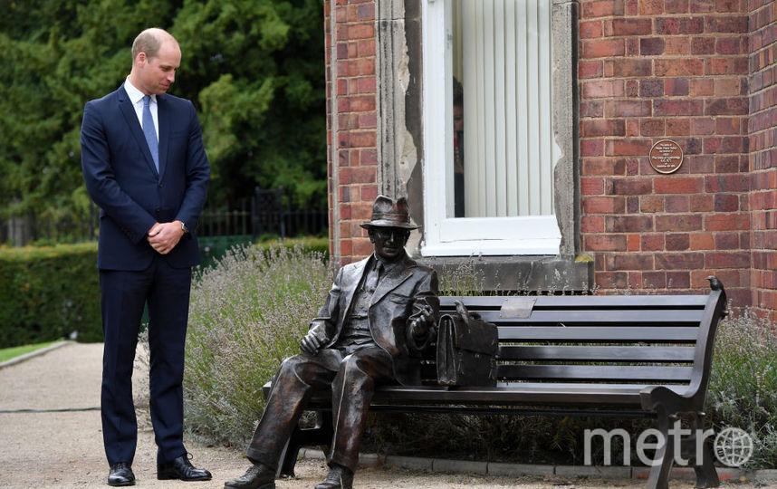 Принц Уильям представил скульптуру Фрэнсиса Фоли. Фото Getty