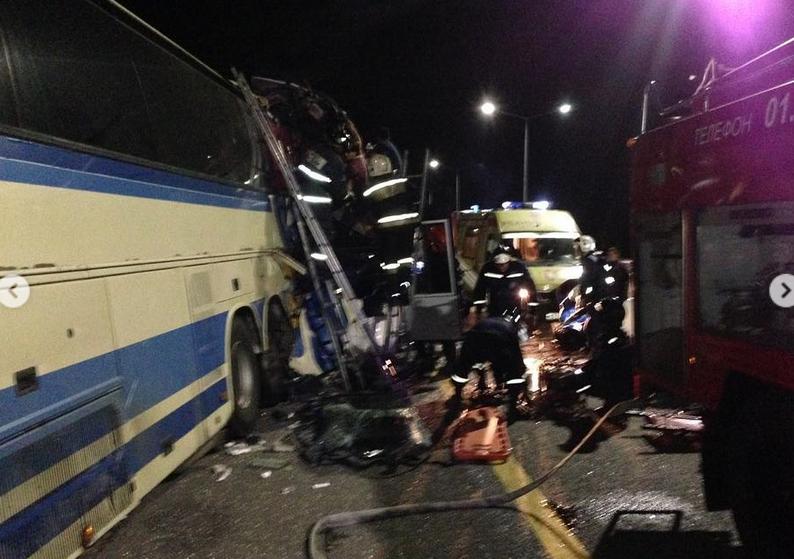 """В ДТП с автобусами на трассе """"Дон"""" пострадали около 40 человек. Фото Скриншот www.instagram.com/gibdd.rus/"""