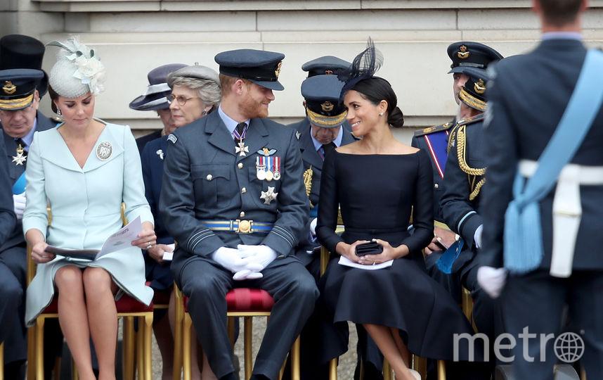 Меган Маркл, принц Гарри и Кейт Миддлтон. Фото Getty