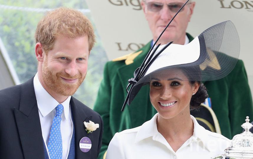 Принц Гарри и Меган Маркл на скачках в Аскоте, 2018. Фото Getty