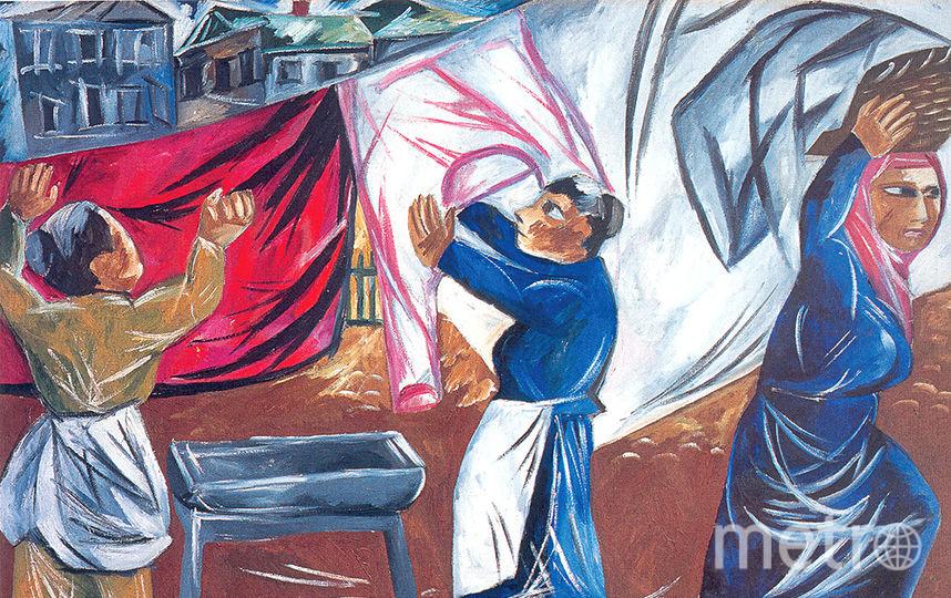 Наталья Гончарова. «Прачки», 1911. Фото предоставлено Русским музеем