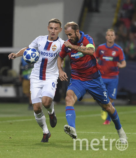 Федор Чалов (слева) подтвердил статус самого забивающего игрока ЦСКА в сезоне. Фото AFP