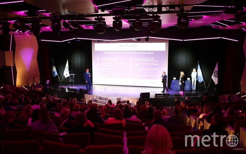Презентация лайнера MSC Meraviglia в Петербурге.