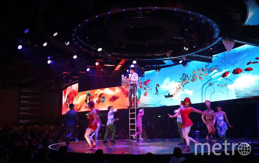Выступление цирка Cirque du Soleil.