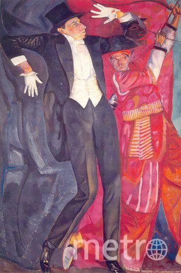 Б.Д.Григорьев.Портрет В.Э.Мейерхольда.1916. Фото предоставлено банком ВТБ.