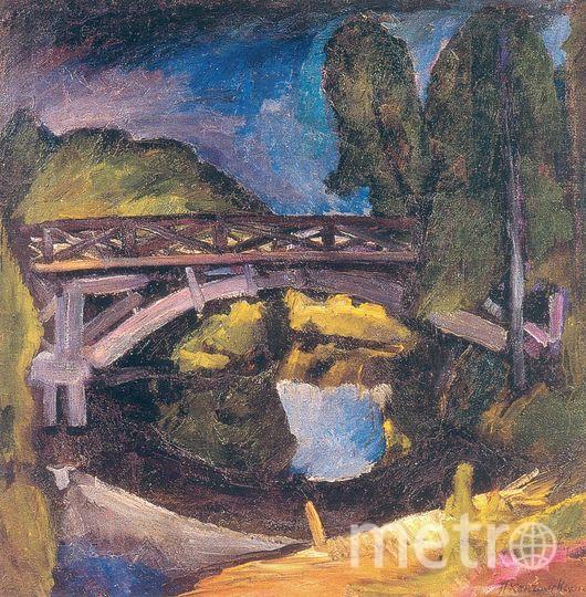 Кончаловский П.П.Мост.1911.х.м.91,5х91,5. Фото предоставлено банком ВТБ.