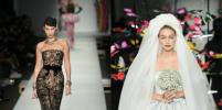 Сёстры Хадид в образах невесты и сексуальной сердцеедки вышли на подиум в Милане