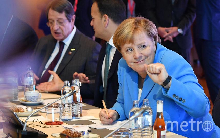 Ангела Меркель на неформальной саммите в Зальцбурге. Фото AFP