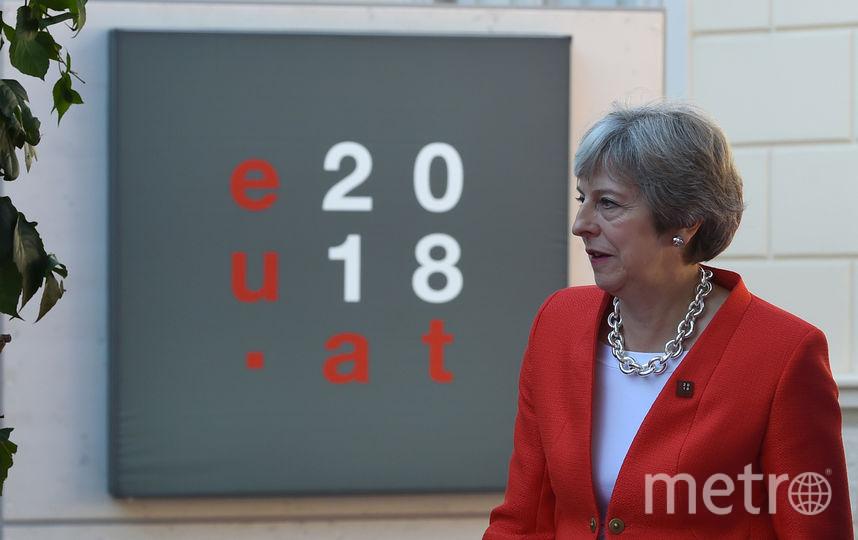 Тереза Мэй на неформальной саммите в Зальцбурге. Фото AFP