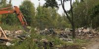 В Петербурге начали вывоз свалки возле парка Сосновка