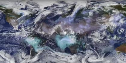 В NASA выяснили, как появляются редкие оттенки облаков