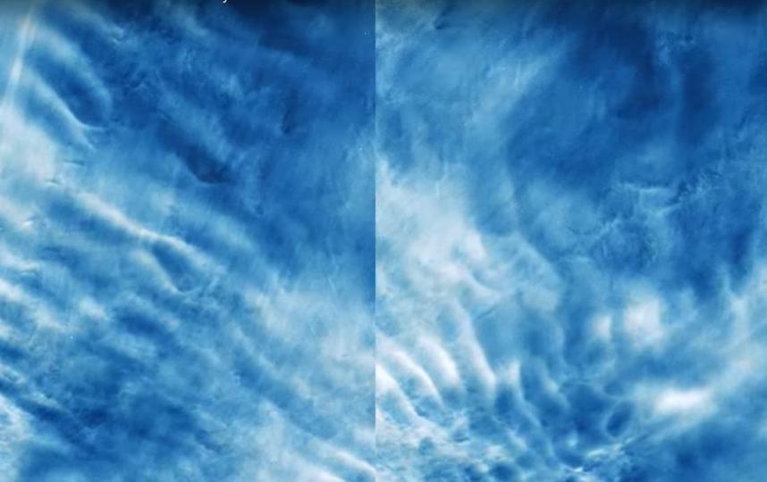 Редкие оттенки облаков. Фото Скриншот YouTube NASA Goddard, Скриншот Youtube
