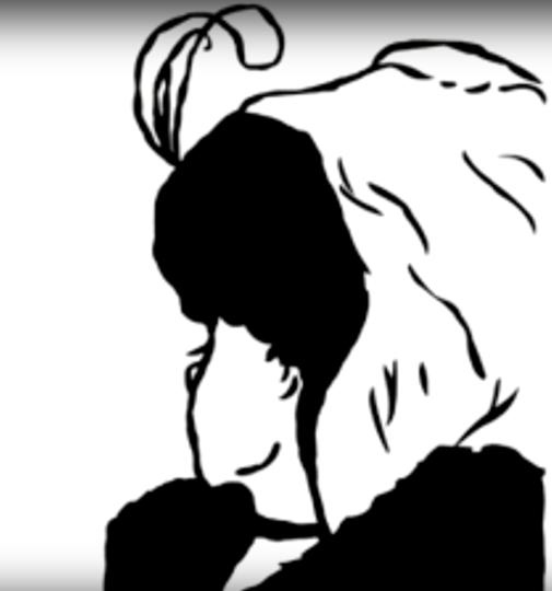 """""""Моя жена и моя тёща"""". Фото Скриншот с видео, на котором рисуют похожую картину, Скриншот Youtube"""
