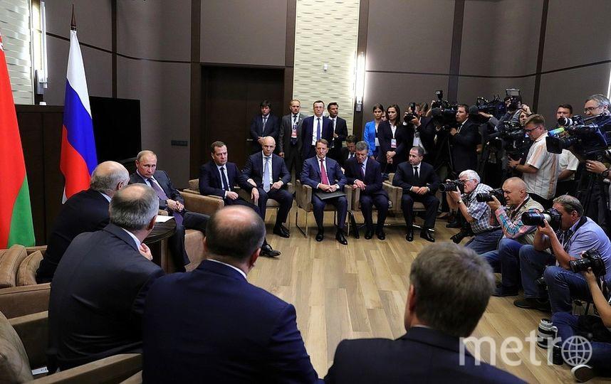 Встреча Александра Лукашенко и Владимира Путина. Фото kremlin.ru