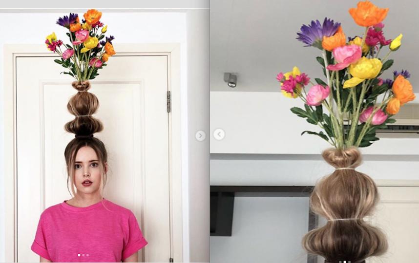 А вот и сама Тейлор и её ваза из волос. Фото www.instagram.com/taytay_xx
