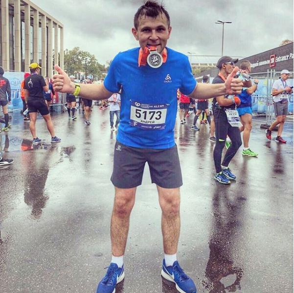 Московский марафон прошёл под дождём, но бегуны не отчаивались. Фото Скриншот Instagram @da_running_.