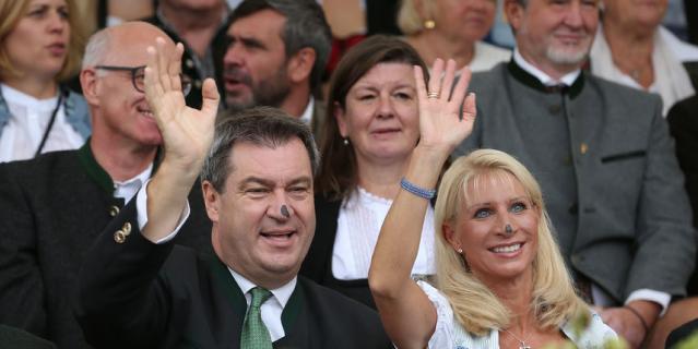 Октоберфест-2018. Премьер-министр Баварии с женой.