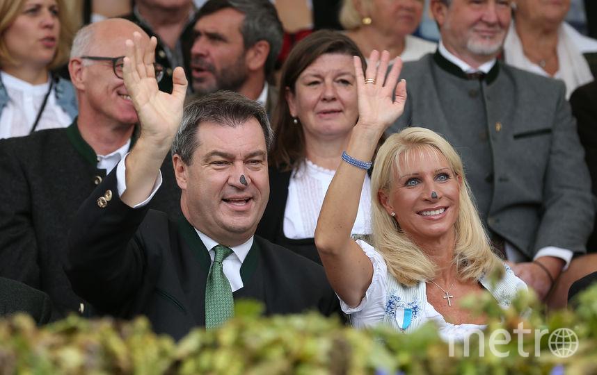 Октоберфест-2018. Премьер-министр Баварии с женой. Фото Getty