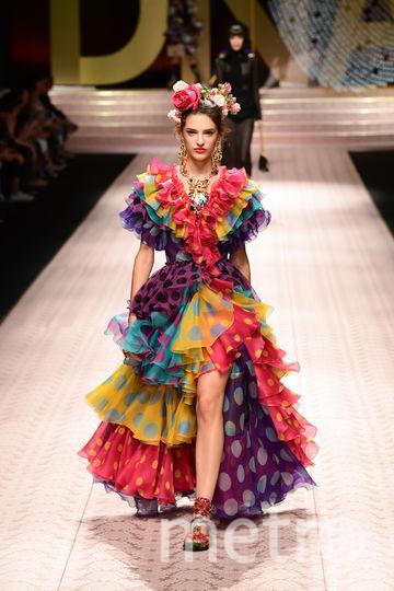 Показ Dolce&Gabbana в рамках Недели моды в Милане. Фото AFP