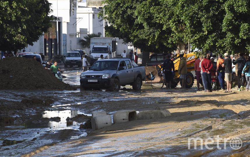 Последствия потопа в Тунисе. Фото AFP