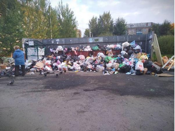 В Челябинске введён режим повышенной опасности из-за мусора, который не вывозили больше недели. Фото Скриншот Instagram @julia_krotkova.