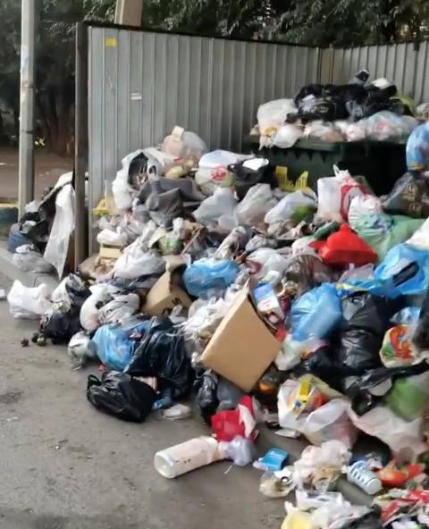 В Челябинске введён режим повышенной опасности из-за мусора, который не вывозили больше недели. Фото Скриншот Instagram @annette_kas.