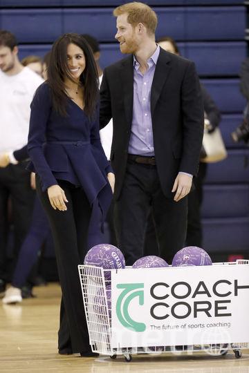 Принц Гарри и Меган Маркл в университете Лафборо. Фото Getty