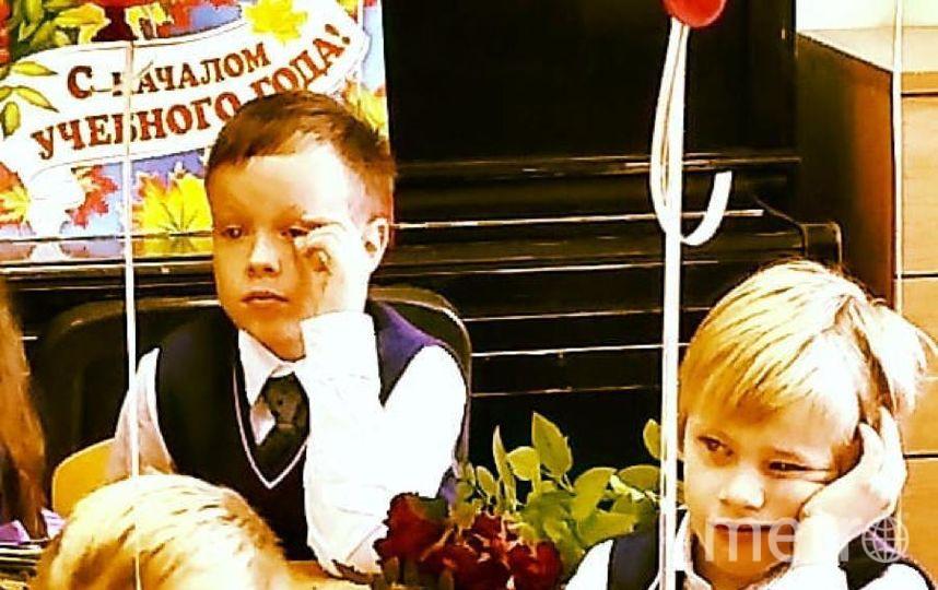 "1 сентября,1 класс.Сын Яша - справа.Томашёв Александр Альбертович. Фото ""Metro"""